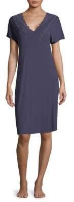 Hanro Rose Short-Sleeve Nightgown
