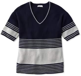 L.L. Bean L.L.Bean Signature Striped V-Neck Sweater