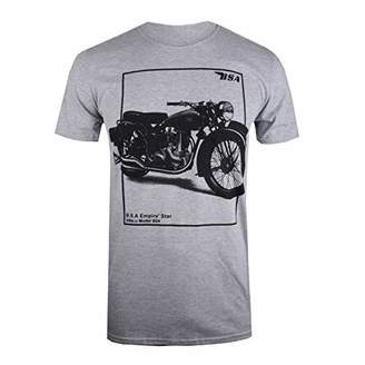 BSA Motocycles Men's Empire Boxed T-Shirt, (Grey Marl Gym), XX (Size:)