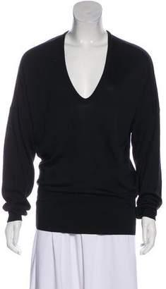 Balenciaga Silk Long Sleeve Sweater