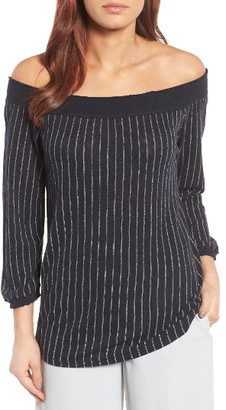 Women's Nic+Zoe Starry Nights Off The Shoulder Top $138 thestylecure.com