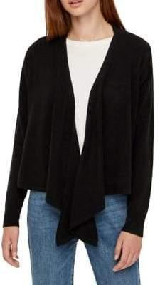 Noisy May Chen Long-Sleeve Draped Cardigan