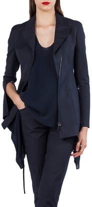 Akris Double-Face Stretch-Sateen Jacket