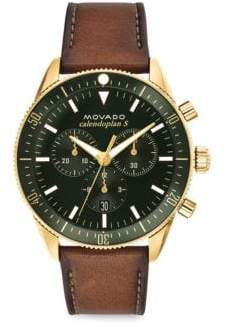 Movado Heritage Leather Strap Chronograph Watch