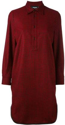 DSQUARED2 long checked shirt