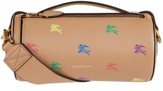 Burberry Leather Equestrian Knight Barrel Bag