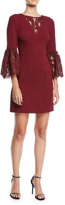 Trina Turk Luciana Lace Bell-Sleeve Dress