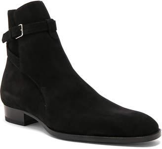 Saint Laurent Wyatt Suede Jodhpur Boots