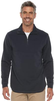 Haggar Men's In-Motion Classic-Fit Stretch Quarter-Zip Pullover