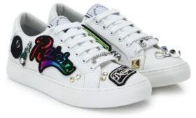 Marc Jacobs Empire Patched & Studded Lace Up Sneakers $395 thestylecure.com