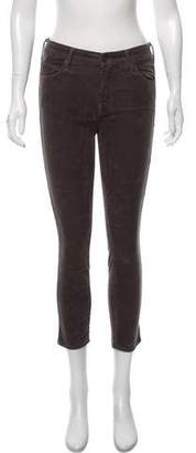 Mother Mid-Rise Corduroy Skinny Jeans