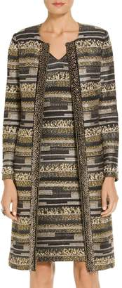 St. John Gilded Eyelash Engineered Inlay Knit Jacket