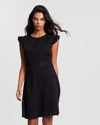 Dorothy Perkins Lace Trim A-Line Dress