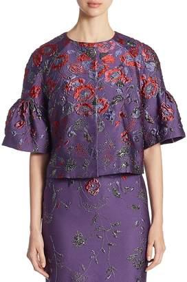 St. John Women's Floral Jacquard Jacket