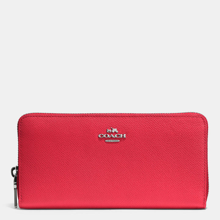 Coach   COACH Coach Accordion Zip Wallet In Embossed Textured Leather
