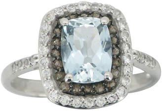 FINE JEWELRY Aquamarine, Smoky Quartz & White Sapphire Ring