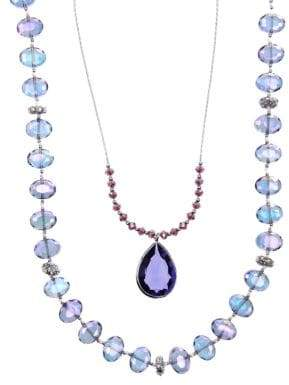 lonna & lilly Two Row Nested Pendant Necklace