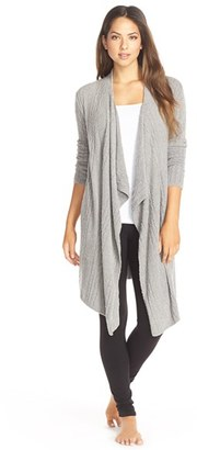Women's Barefoot Dreams Cable Knit Drape Front Cardigan $134 thestylecure.com