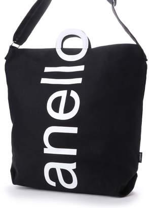 Anello (アネロ) - アネロ anello レディース トートバッグ コットンキャンバスロゴ 2WAYトートバッグ AU-S0061