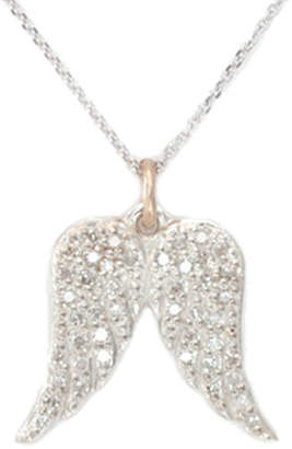 La Soula Guidance Silver 0.24 Ct. Tw. Diamond Angel Wings Necklace