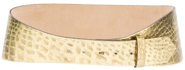 Giambattista Valli metallic leather belt
