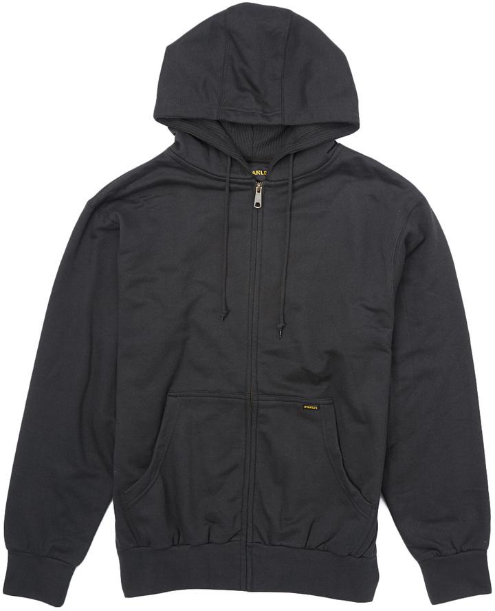 Black Lined Fleece Hoodie