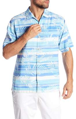 Tommy Bahama Leaf On The Water Short Sleeve Print Silk Original Fit Shirt