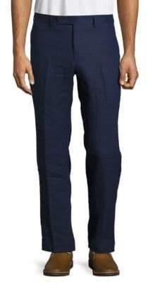 Lauren Ralph Lauren Flat Front Linen Dress Pants