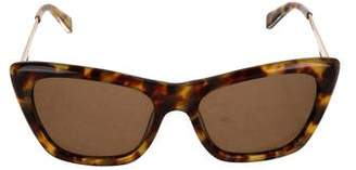 Rebecca Minkoff x Shane Baum Tortoiseshell Cat-Eye Sunglasses