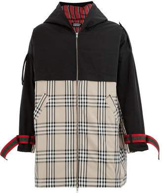 Andrea Crews check panel coat
