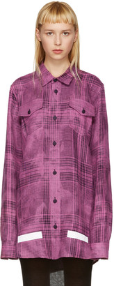 Off-White Pink Linen Check Shirt $580 thestylecure.com