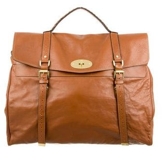 Mulberry Leather Piccadily Weekender $830 thestylecure.com