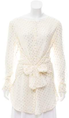 Magaschoni Silk Button-Up Blouse