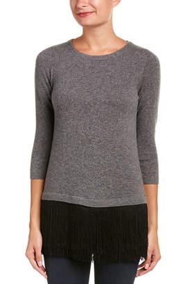 Sofia Cashmere sofiacashmere Sofiacashmere Fringe Cashmere Sweater