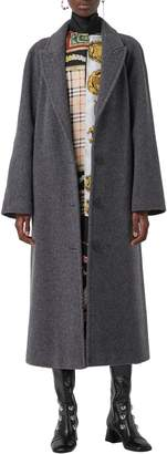 Burberry Ellerton Wool Blend Coat