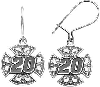 "Insignia Collection NASCAR Matt Kenseth Stainless Steel ""20"" Maltese Cross Drop Earrings"