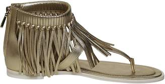 Tod's Fringed Flat Sandals