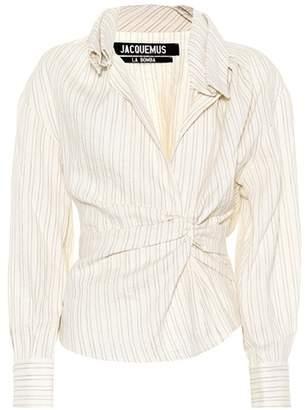 Jacquemus Le Chemise Belem striped blouse