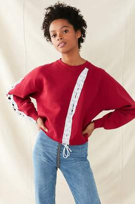 Urban Renewal Vintage Recycled Grommet Lace-Up Sweatshirt