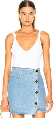 The Range Shadow Linen Rib Tank in White | FWRD