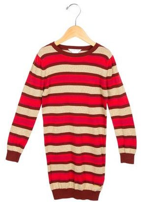 Little Marc Jacobs Girls' Metallic Striped Dress $55 thestylecure.com