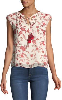 Rebecca Minkoff Sophie Sleeveless Floral-Print Top