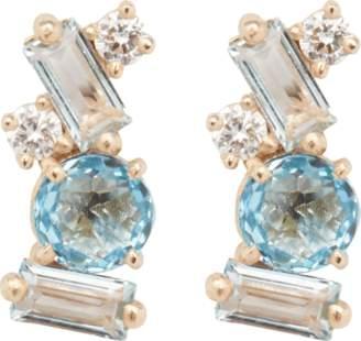 Suzanne Kalan Swiss Blue Topaz Stud Earrings