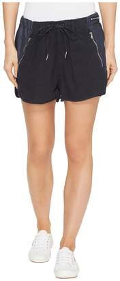 Blank NYC Drawstring Shorts with Zipper Detail in Midnight Hour Women's Shorts