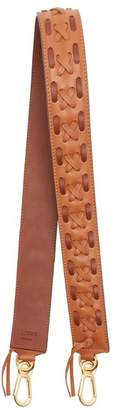 Loewe Laced Leather Bag Strap - Womens - Tan