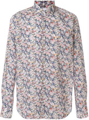 Xacus floral print long sleeve shirt