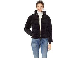 Juicy Couture Track Velour Solid Quilted Puffer Jacket