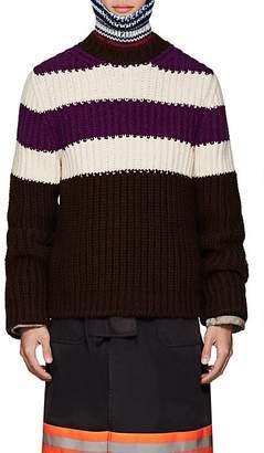Calvin Klein Men's Striped Wool-Mohair Oversized Sweater