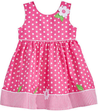 Blueberi Boulevard Baby Girls Dot-Print Cotton Sundress