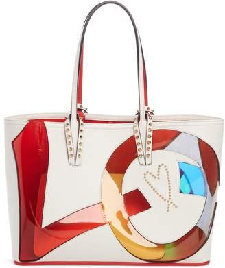 Christian Louboutin Small Cabata Love Embellished Leather Tote